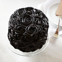 We Take the Cake Halloween Black Rose Red Velvet Cake