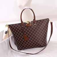 LV Louis Vuitton DAMIER CANVAS HANDBAG SHOULDER BAG