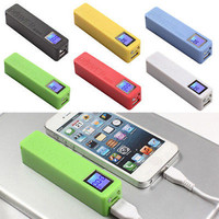 DIY LCD Mobile Phone Power Bank Battery Charger Box Case For 18650 Battery LS