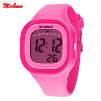 Women Girl Candy Color Silicone Rubber Band Relojes Digital LED Sport Relogio Waterproof Luminous Wrist Watch