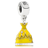 disney parks princess belle dress pandora jewerly charm new with pouch