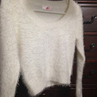 AmericanApparel Fuzzy Cropped Sweater