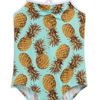 Toddler Girl's Stella Cove Pineapple Print One-Piece Swimsuit