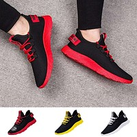New men sport shoes Flying Weaving le Running Shoes Tourist Shoes