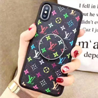 LV Leather Women Men Protective Cover Phone Case