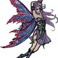 Amy Brown Iron-On Patch Fox Glove Fairy