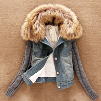 Wool denim jacket ABAEDB