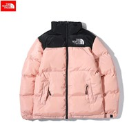The North Face 2018 winter new tide brand men and women wear thick down cotton jacket pink