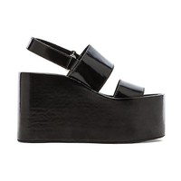 Jeffrey Campbell Carnie Wedge Sandal in Black