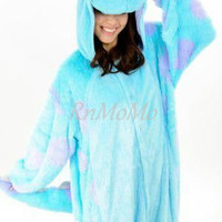 KIGURUMI Animal Pajamas Pyjamas Costume Onesuit Adult / Kid SLOTH-pink-sully animal Onesuit.