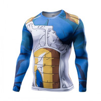 Dragon Ball Z - Vegeta Battle Torn  Armor Long Sleeve T -Shirt