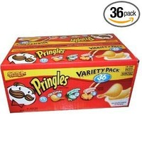 Pringles Variety Pack Potato Chips - 36 Individual Packs Snack Stacks