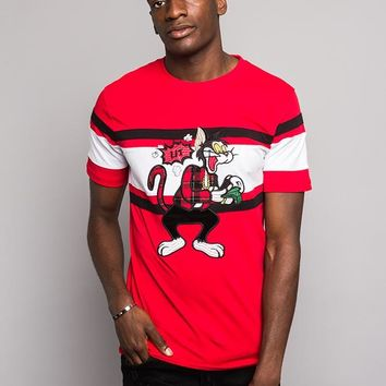 Color Blocked Embroidered Lit Money T-Shirt