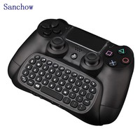 Sanchow PS4 Bluetooth Mini Wireless Keyboard Chatpad Keypad For Sony PlayStation 4 PS4 Controller For PS4 PRO Gamepad