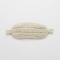 Aerie Cable Knit Sleep Mask , Heather Fawn