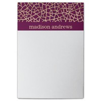 Purple and Faux Gold Foil Abstract Pattern Post-it® Notes
