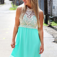 Frills Over Lace Dress