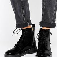 ASOS ANTARTICA Leather Lace Up Ankle Boots at asos.com