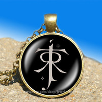 LOTR pendant Lord of the Rings jewelry Elf symbol vintage pendant -necklace ready for gifting Buy 3 and get the 4th one free