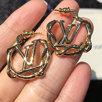 LV Louis Vuitton Fashionable Women Chic Earrings Jewelry Accessories