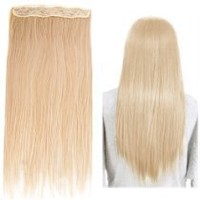 "World Pride Fashionable 23"" Straight Full Head Clip in Hair Extensions - Blonde"