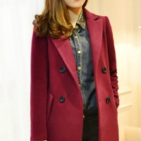 Classic Double-breasted Coat - OASAP.com