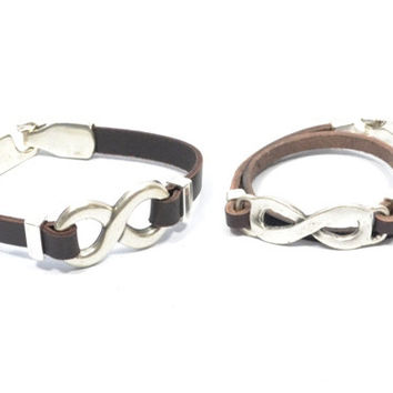 couples jewelry * couples infinity bracelets * infinity leather bracelets * boyfriend girlfriend bracelet * husband wife gifts