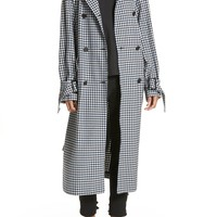 Tibi Gingham Suiting Trench Coat | Nordstrom