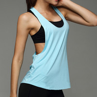 Women Ladies Sexy Loose Fitness Dry Quick Sport Tank Tops Sleeveless Cut Out Gym Halter top femme Vest Shirt Z1 fitness tops