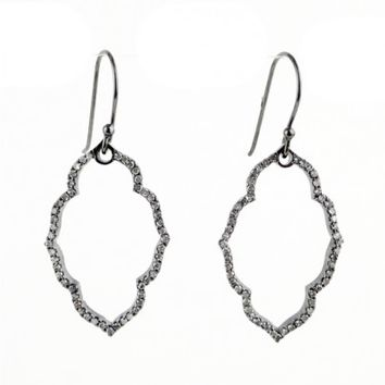 Champagne Pave Diamond Moroccan Arch Frame Earrings - Everyday Diamonds - Shop