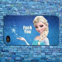 Disney Frozen Elsa Cute Phone Case Funny Quote Cover iPhone iPod Blue Girly Girl