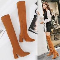 On Sale Hot Deal Stretch Winter High Heel Slim Boots [120849399833]