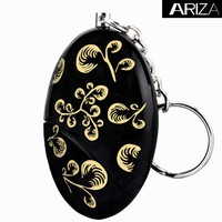 Waterproof Personal keychain Alarm Emergency self defense keychain alarm with gold and black printing design