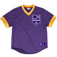 Mitchell & Ness Color Switch Mesh Vneck Los Angeles Kings In Purple