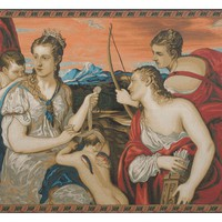 Venus Blindfolds Cupid Tapestry Wall Art Hanging