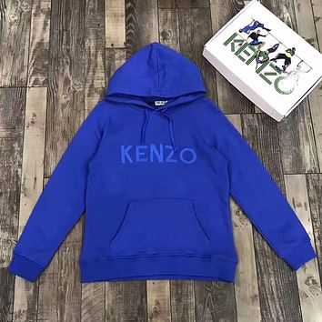 KENZO Woman Men Fashion Embroidery Top Sweater Pullover Hoodie