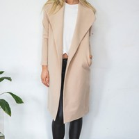 Infinity Coat Camel - Outerwear - Clothes