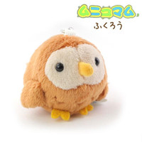 Soft and Downy Mini Bird Stuffed Toy Cell Phone Strap (Owl)