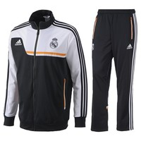 Real Madrid Training Presentation Suit - Mens Black