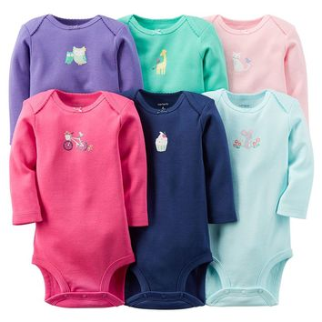 Carter's 6-pk. Graphic Bodysuits - Baby Girl, Size: