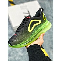 Nike Air Max 720 Black Bright Green Sport Running Shoes