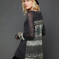 Free People  Printed Fringe Tunic at Free People Clothing Boutique