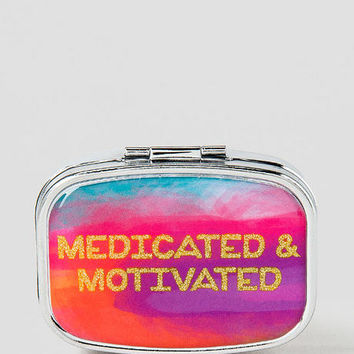 Medicated & Motivated Pill Box