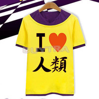 COS NO GAME NO LIFE Cosplay Sora Tee T-Shirt Short sleeved S/M/L/XL/XXL Z .T