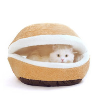 Hamburger Windproof Cat Bed