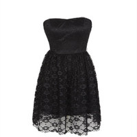 Strapless Daisy Lace Dress