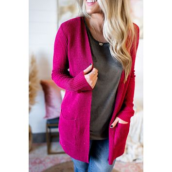 Bad Romance Knit Cardigan (Berry)