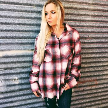 FEELING WINE FLANNEL
