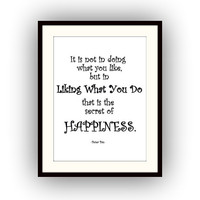 Happiness, Peter Pan Quotes, Printable Wall Art, Kids home decor, Children room decal, Nursery Quote decals, Walt Disney Movie print, green