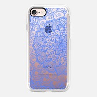 Cornflower Blue Transparent Lace iPhone 7 Case by Micklyn Le Feuvre | Casetify